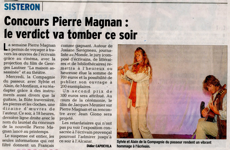 article la Provence_Passeur_15nov_2014