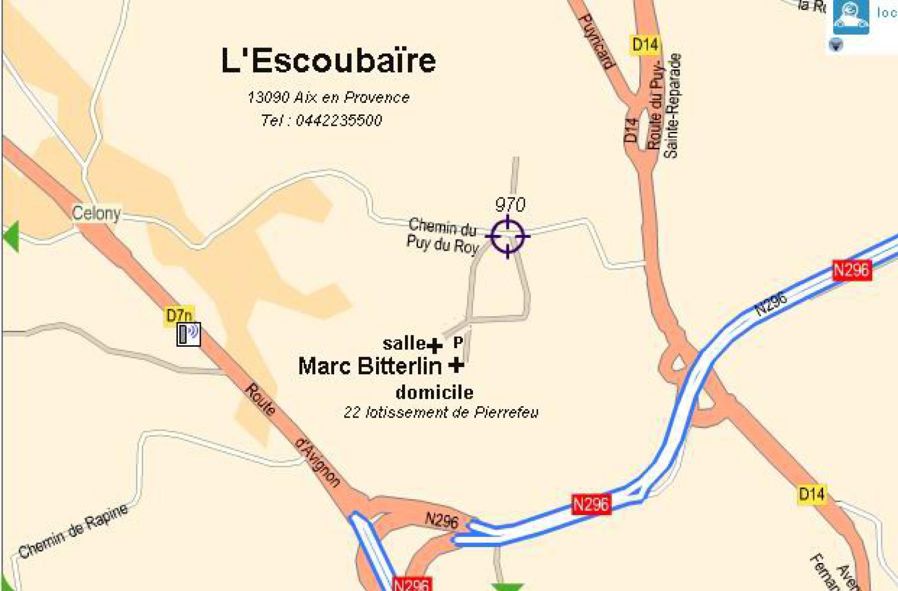 plan d'accès l'Escoubaïre